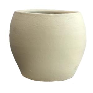 White Egg Clay Pot